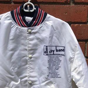 Vtg LA All-City Marching Band White Varsity Jacket